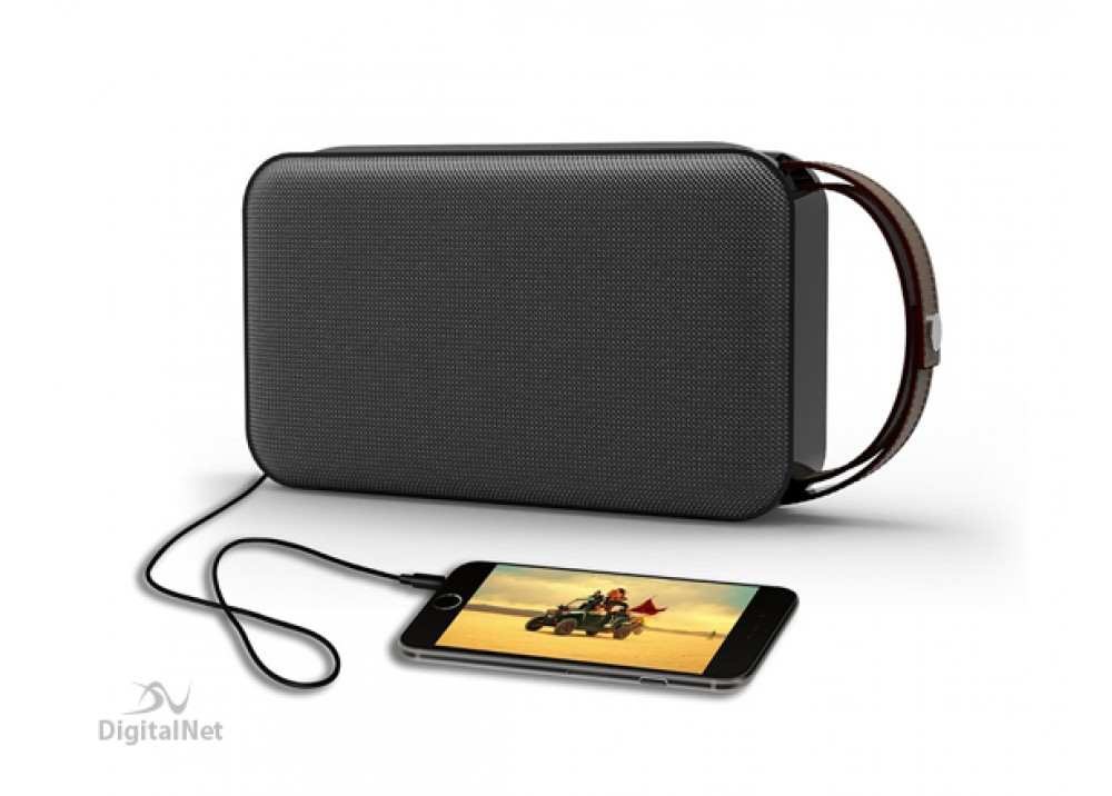 PROMATE BLUETOOTH SPEAKER GROOVE 20W WITH POWER BANK 8800MAH BLACK