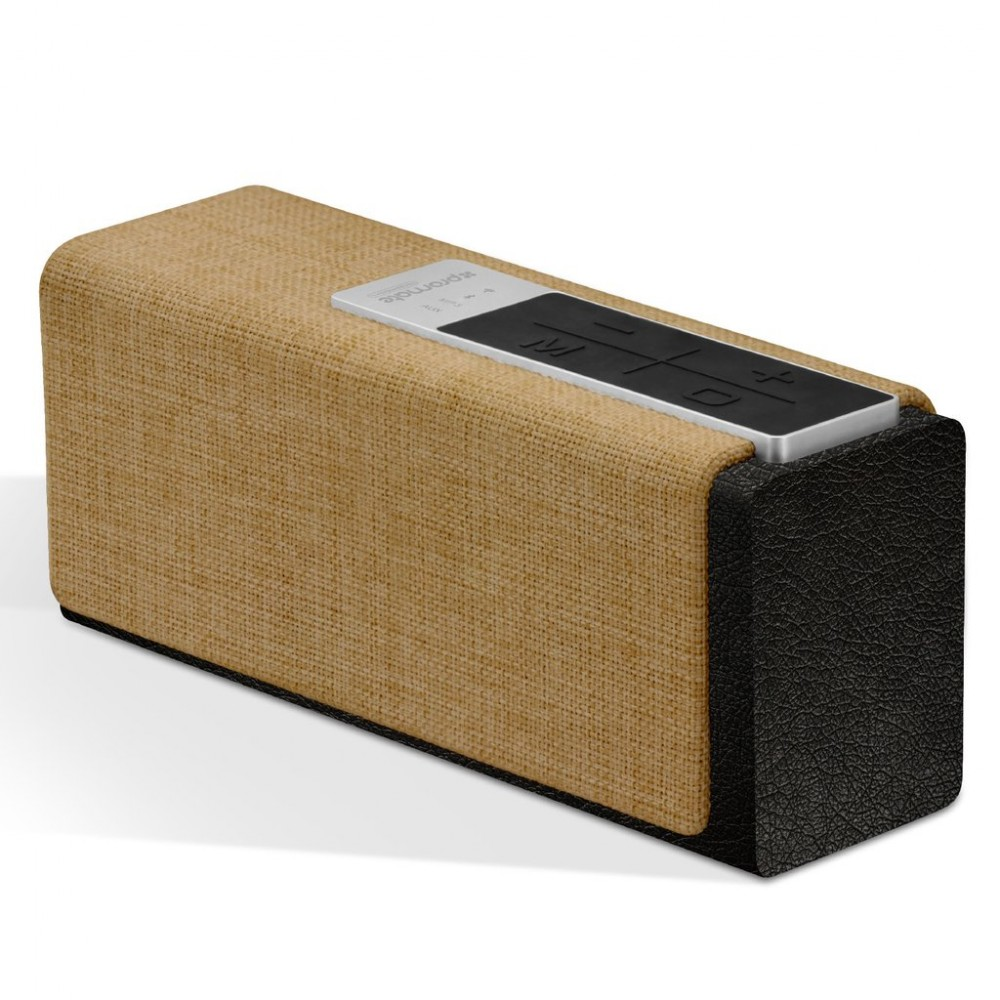 PROMATE BLUETOOTH AND WIRELESS SPEAKER STREAMBOX BLACK BEIGE