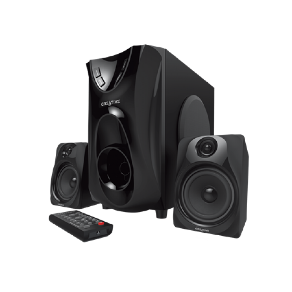 CREATIVE SUBWOOFER SBS E2400 2.1 WITH RADIO & REMOTE BLACK