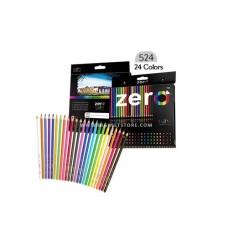 زيرو أقلام تلوين خشبي طويل 24 لون - 524