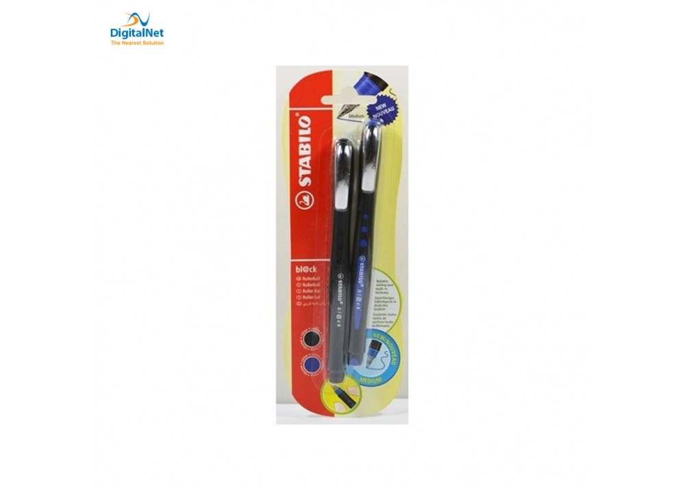 STABILO BL@CK ROLLERBALL BLACK/BLUE 0.5MM