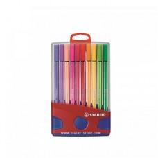 ستابيلو أقلام تحديد 68  قياس 1 مم مع قاعدة 20 لون