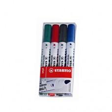ستابيلو أقلام سبورة 4 ألوان