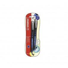 ستابيلو  0BL@CK ROLLERBALL قلمين أزرق /أزرق0.5مم