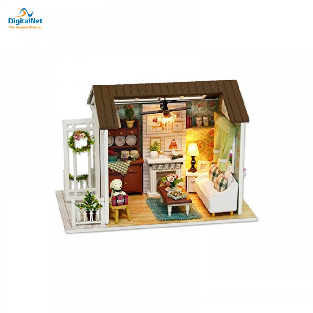 GENERIC 3D DIY WOODEN HOUSE TOY WHITE