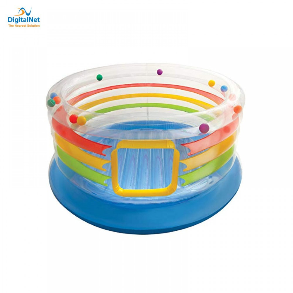 INTEX JUMB -O- LENE  TRANSPARENT RING BOUNCER