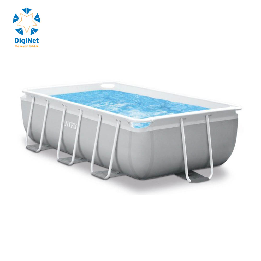 INTEX SWIMMING POOL RECTANGULAR WITH FILTER AND LADDER  3M X 1.75M X 0.8M