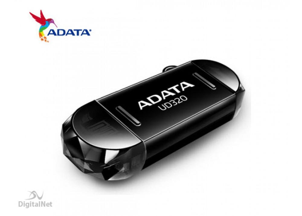 A-DATA FLASH MEMORY UD320 16GB USB 2.0 OTG BLACK