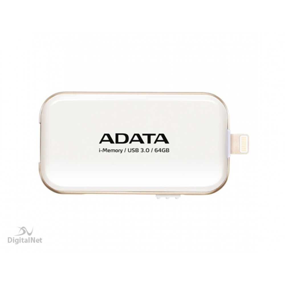 A-DATA FLASH OTG FOR iPHONE I-MEMORY UE710 64GB USB 3.0 WHITE
