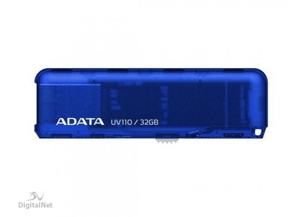 A-DATA FLASH MEMORY UV110 32GB USB 2.0 BLUE