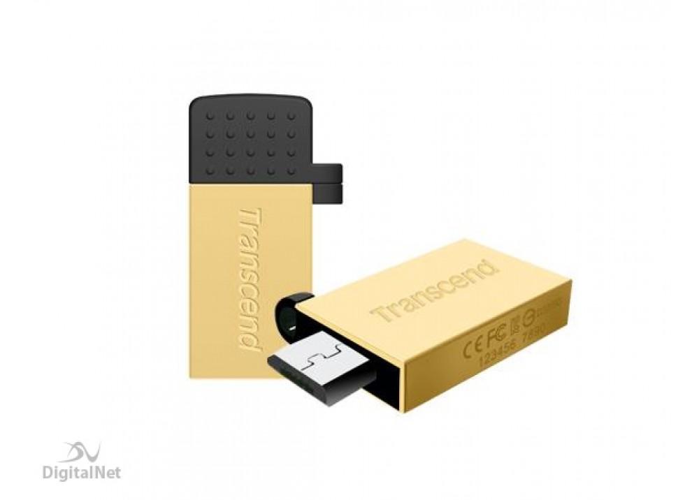TRANSCEND FLASH MEMORY JF380 64GB OTG USB 3.0 GOLD