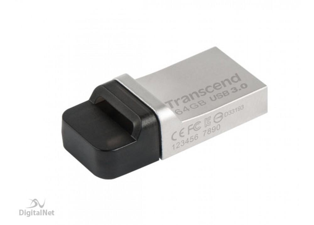 TRANSCEND FLASH MEMORY JF880 16GB OTG USB 3.0 SILVER