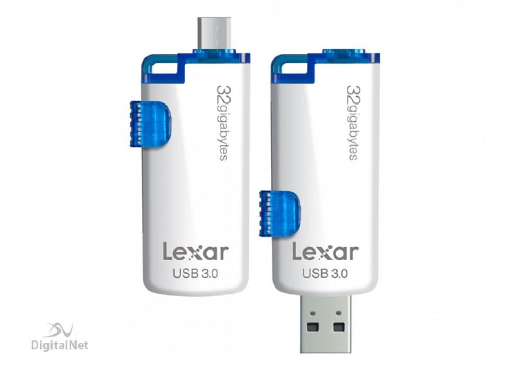 LEXAR FLASH MEMORY LJDM20 OTG 32GB USB3.0 WHITE & BLUE