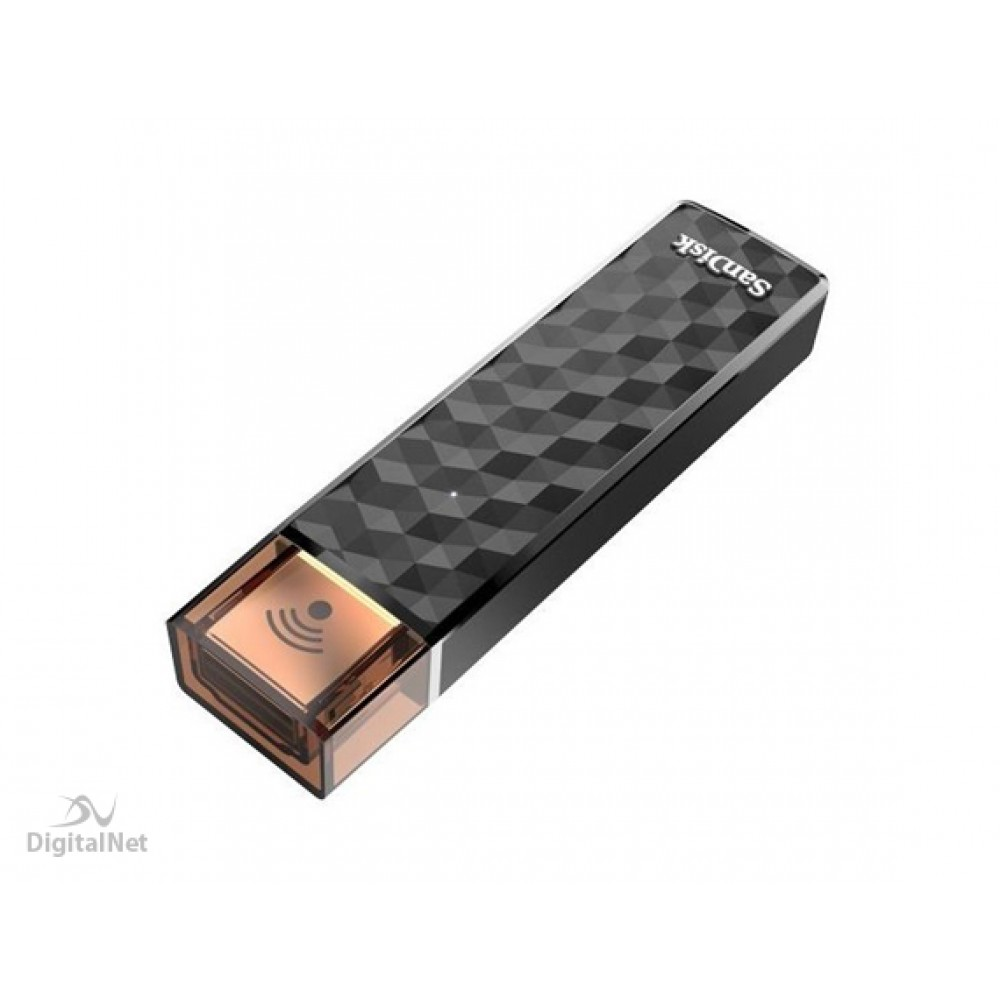 SANDISK FLASH MEMORY CONNECT WIRELESS STICK SDWS4 16GB BLACK