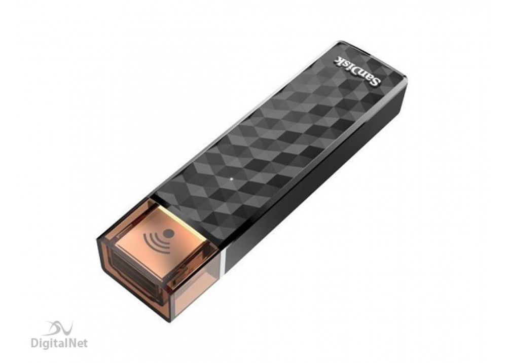 SANDISK FLASH MEMORY CONNECT WIRELESS STICK SDWS4 16GB USB2.0 BLACK