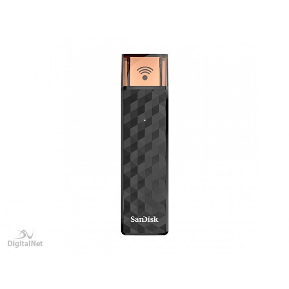 SANDISK FLASH DRIVE CONNECT WIRELESS STICK SDWS4 32GB BLACK
