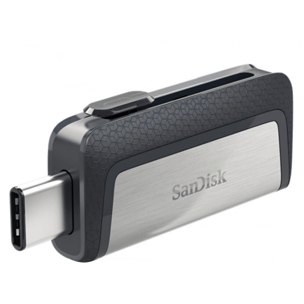 SANDISK FLASH DRIVE ULTRA DUAL SDDD2 TYPE-C OTG 256GB USB 3.0 BLACK