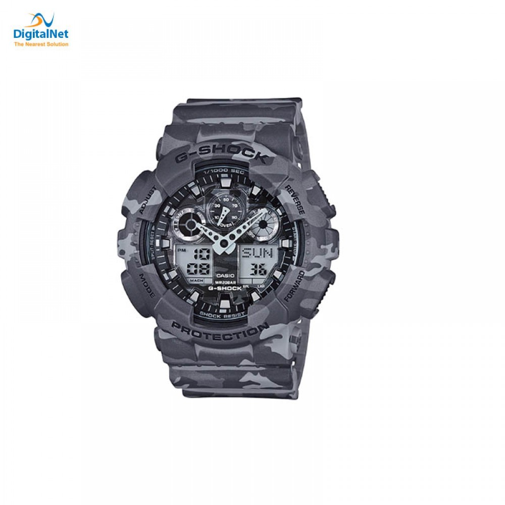 CASIO HAND WATCH G-SHOCK GA GA-100CF-8AD GRAY