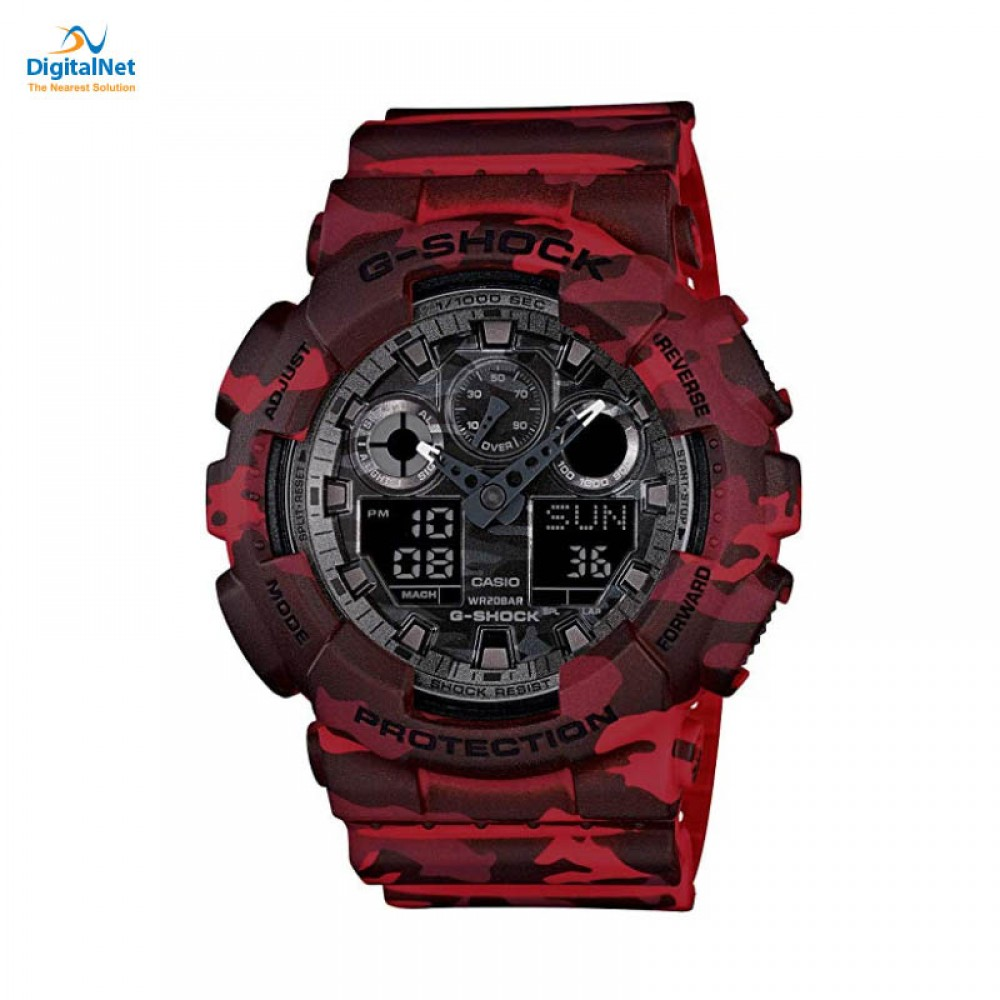 CASIO HAND WATCH G-SHOCK GA-100CM-4AD RED