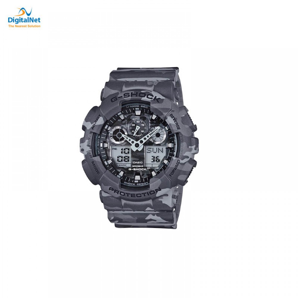 CASIO HAND WATCH G-SHOCK GA-100CM-8AD GREY
