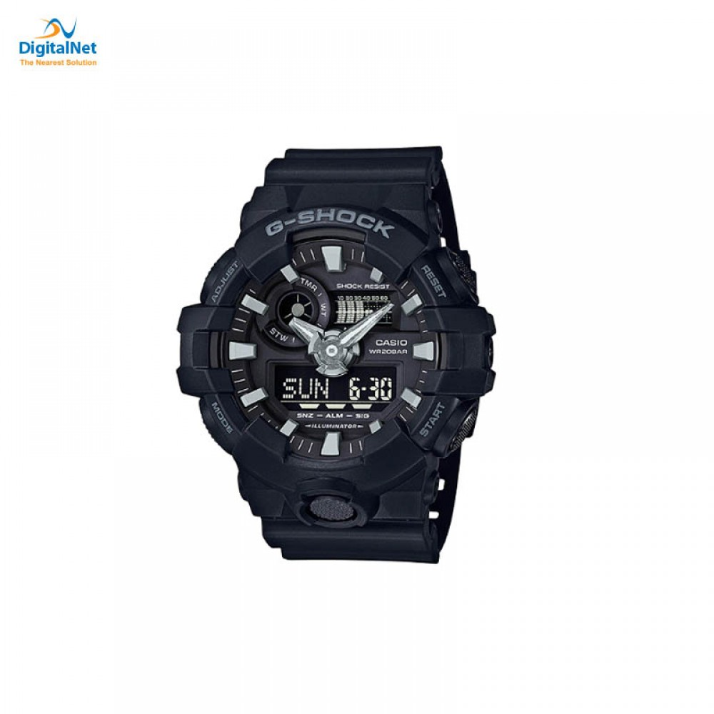 CASIO HAND WATCH G-SHOCK GA-700-1BD BLACK