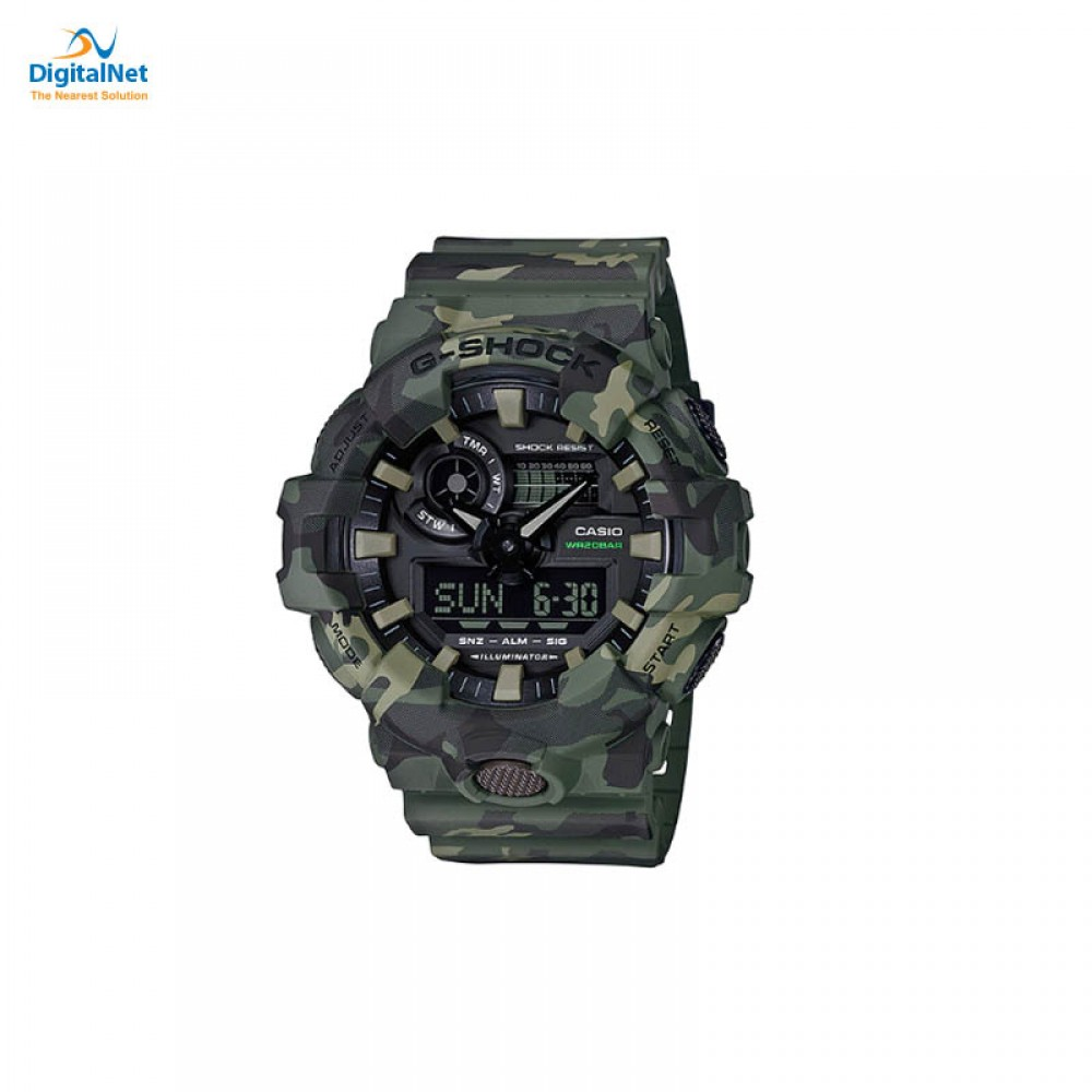 CASIO HAND WATCH G-SHOCK GA-700CM-3AD CAMOUFLAGE GREEN