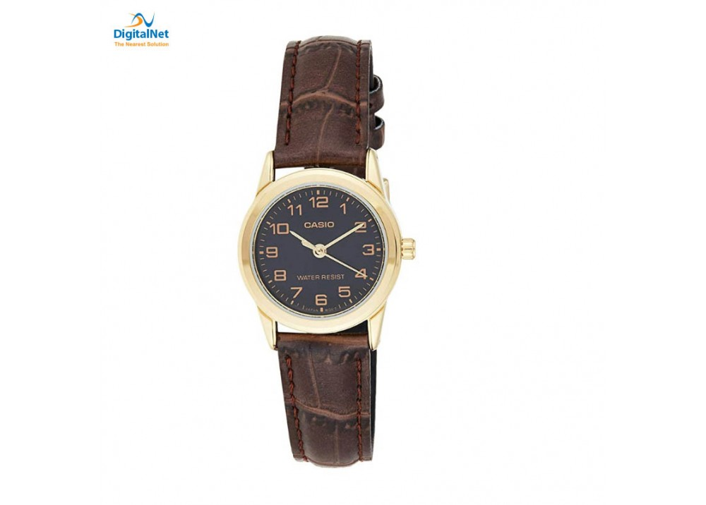 CASIO HAND WATCH LEATHER BAND LTP-V001GL-1BU BROWN