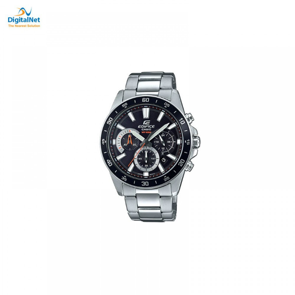 CASIO HAND WATCH STAINLESS STEEL BAND EFV-570D-1AV