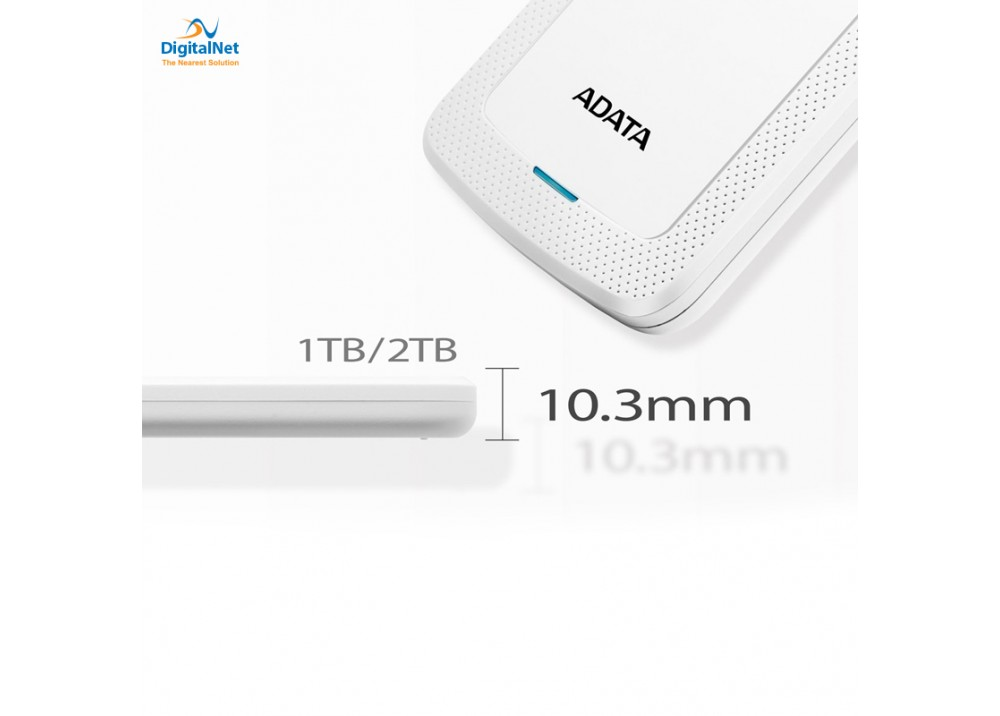 ADATA EXTERNAL HARD DRIVE HV300 SLIM 2TB WHITE