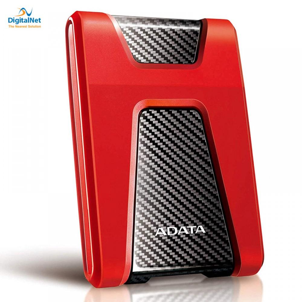 ADATA EXTERNAL HARD DRIVE HD650 USB 3.1 2TB ANTI-SHOCK RED