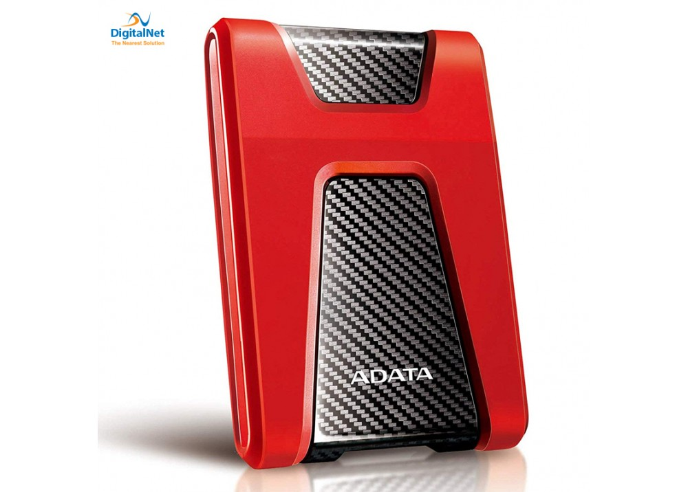 ADATA EXTERNAL HARD DRIVE HD650 USB 3.1 2TB ANTI-SHOCK RED