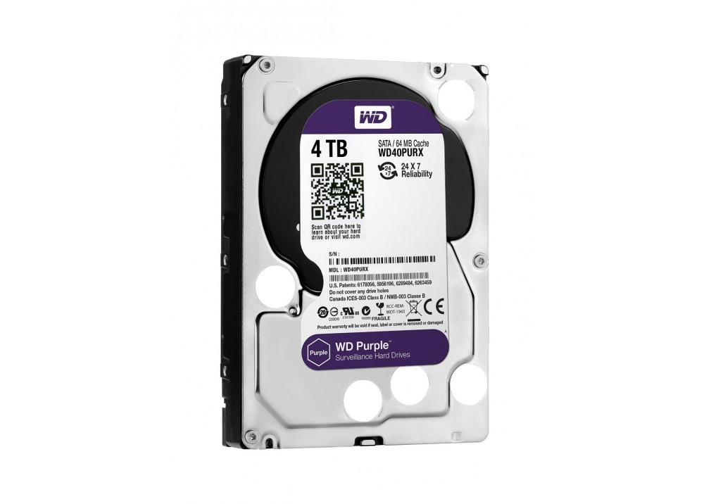 "WESTERN DIGITAL INTERNAL DESKTOP & DVR HARD DISK DRIVE 4TB 3.5"" SATA PURPLE SURVEILLANCE"