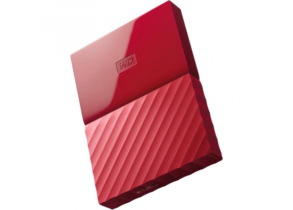 WESTERN DIGITAL EXTERNAL HARD DISK MY PASSPORT ULTRA 2TB 3.0 RED