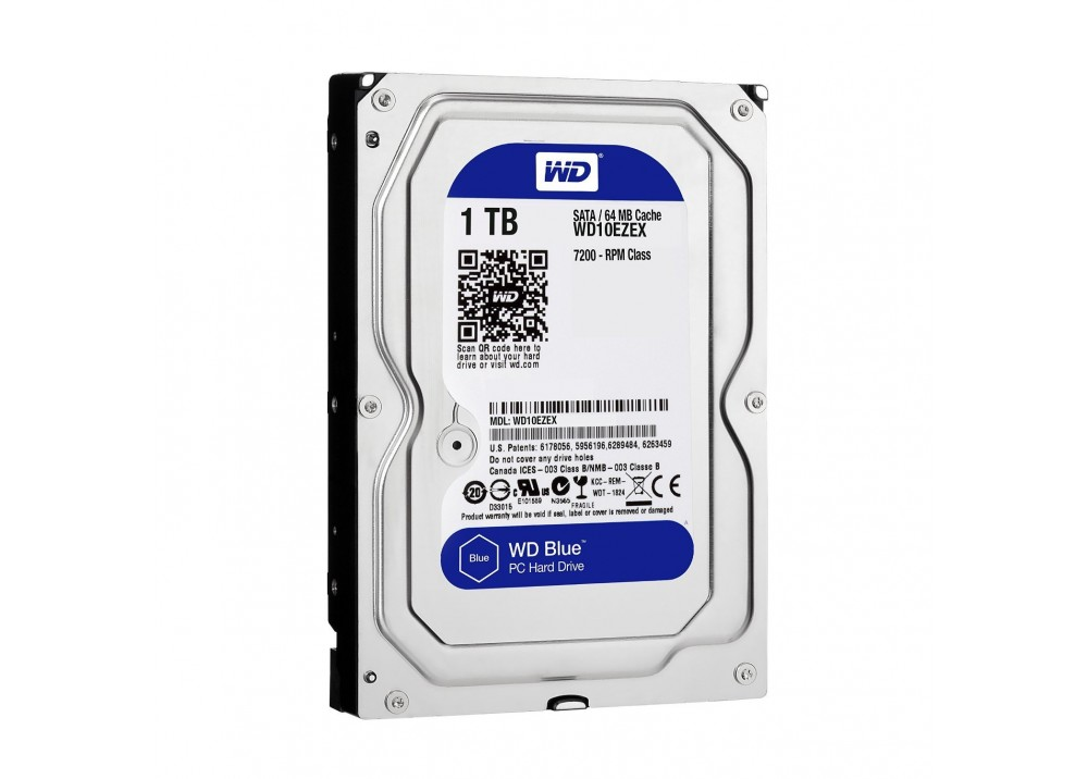 WESTERN DIGITAL INTERNAL DESKTOP HARD DISK DRIVE 1TB 7200 RPM SATA 6Gb/s 64MB CACHE 3.5 INCH