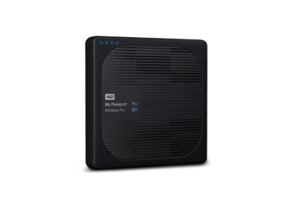 WESTERN DIGITAL EXTERNAL HARD DISK MY PASSPORT WIRELESS PRO USB 3.0 2TB BLACK
