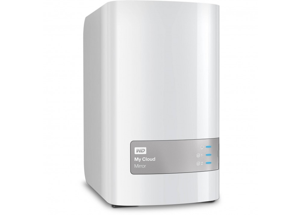 WESTERN DIGITAL EXTERNAL HARD DISK MY CLOUD MIRROR GEN2 2-BAY NAS 8TB USB 3.0 WHITE