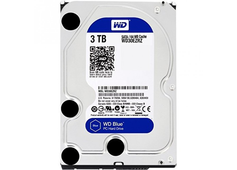 WESTERN DIGITAL INTERNAL DESKTOP HARD DISK DRIVE 3TB 5400RPM SATA 6Gb/s 64MB CACHE 3.5 INCH BLUE