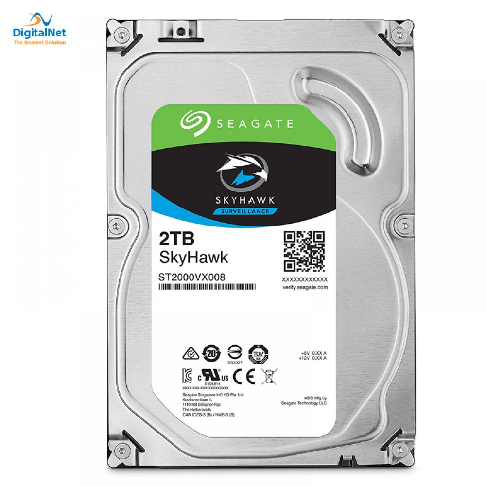 SEAGATE INTERNAL DESKTOP HARD DISK DRIVE  SKYHAWK SATA  6GB/S 64 MB 2TB