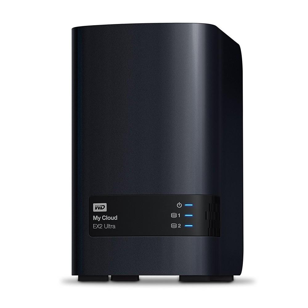 WESTERN DIGITAL EXTERNAL HARD DISK MY CLOUD 8TB  EX2 ULTRA-NAS STORAGE USB 3.0 BLACK