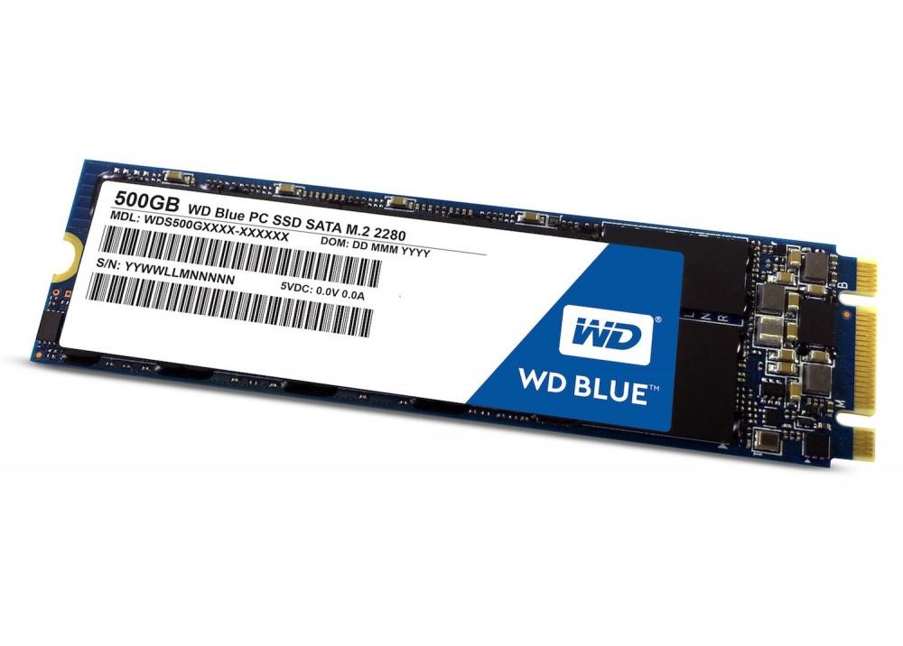 WESTERN DIGITAL INTERNAL BLUE 500GB M.2 SSD SOLID 3D NAND SATA 2280