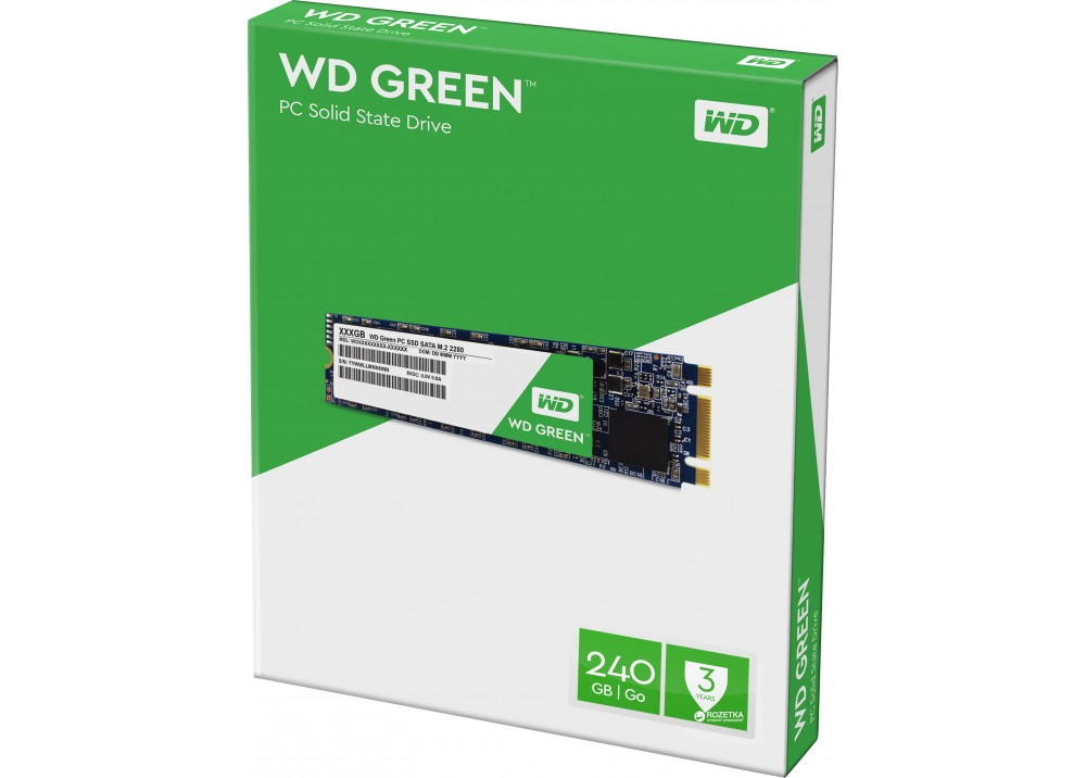 WESTERN DIGITAL INTERNAL SOLID STATE DRIVE 2280 SSD M2 120GB GREEN
