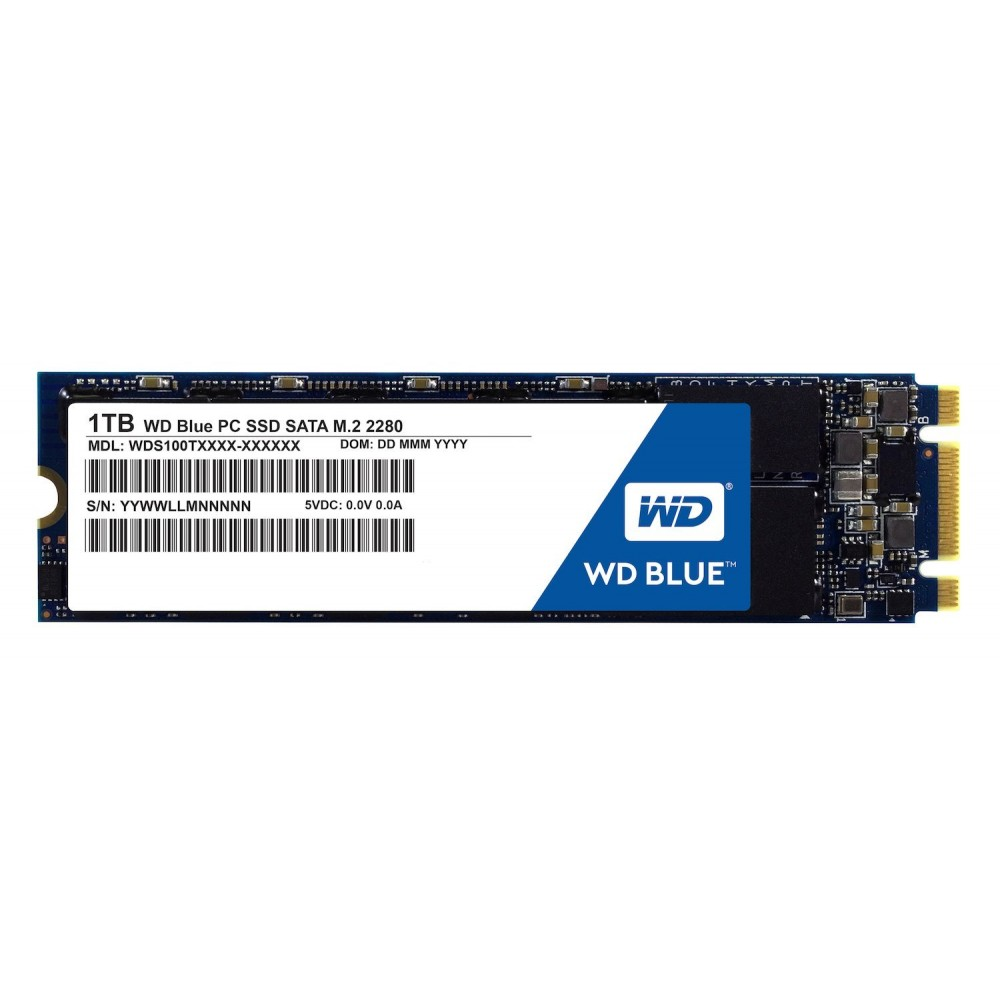 WESTERN DIGITAL INTERNAL SOLID STATE DRIVE SSD M2 1TB BLUE