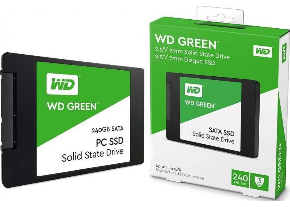 "WESTERN DIGITAL INTERNAL HARD DISK SSD 240GB 2.5"" GREEN"