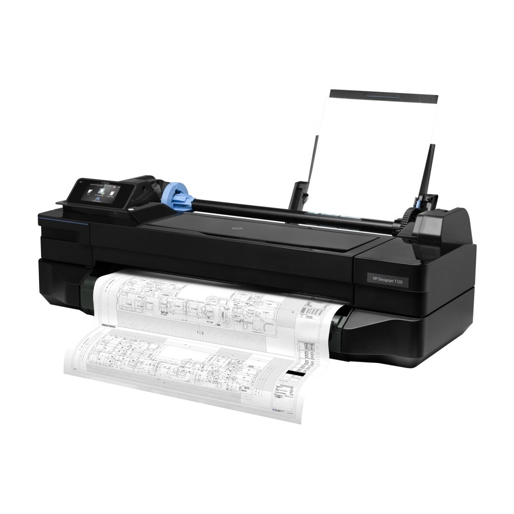 HP COLOR PRINTER DESIGENJET T120 24""